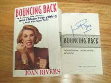JOAN RIVERS signed BOUNCING BACK I've Survived Everything and You Can Too! Book