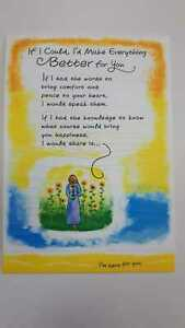 Blue Mountain Sentimental Card: Encouragement - If I Could I'd Make Everything