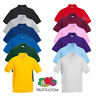 Fruit Of The Loom PIQUE POLO SHIRT KIDS BOYS GIRLS PLAIN SCHOOL ALL AGES 3-15