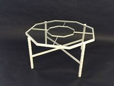 mid century modern faux bamboo octagon coffee table phyllis morris ? regency