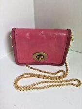 Coach Legacy  Pink Patent Leather  Mini Crossbody Bag Turn-lock Chain   W33