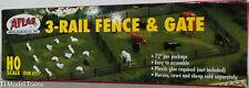 Atlas Ho #777 3-Rail Fence & Gate