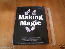 Making Magic Book Dawes Setterington 1993 1st print 190pgs Hbdj Magician tricks