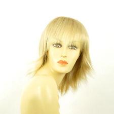 Perruque femme mi-longue blond doré méché blond très clair VANILLE 24BT613