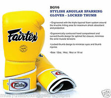 Fairtex Boxing Gloves Stylish Angular Sparring Gloves Locked Thumb 10Days made