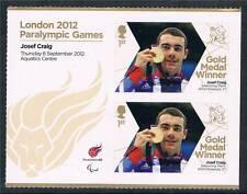 GB 2012 Paralympics Gold Medal Josef Craig MS 2v  MNH
