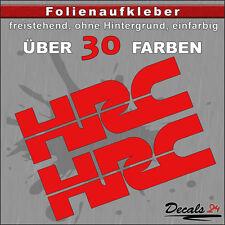 2er SET - HRC Sponsoren-Folienaufkleber Auto/Motorrad - 30 Farben - 15cm