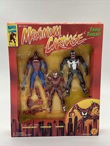 Toy Biz Marvel Maximum Carnage Triple Threat Action Figure 3-Pack 1994 Sealed