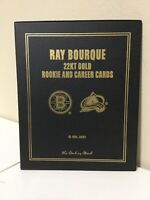 Ray Bourque 22KT Gold Rookie & Career Hockey Card Danbury Mint Set!