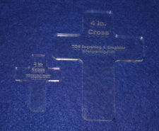 Laser Cut Quilt Templates- 2 Piece Christian Cross Set - Clear Acrylic 1/4""