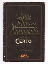 1924 Certo Fruit Pectin - Jam Jellies & Marmalades Recipe Booklet