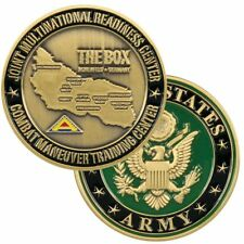 """ARMY  THE BOX HOHENFELS  GERMANY  CMTC 1.75""""  CHALLENGE COIN"""