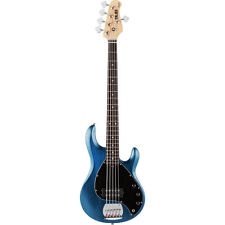 Music Man Sterling SUB RAY5 Trans Blue 5 String Bass Guitar - Ray5-TBLS