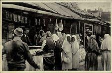 Sarajevo Čaršija Bosnien Herzegowina s/w AK ~1920/30 Türkinnen beim Einkauf