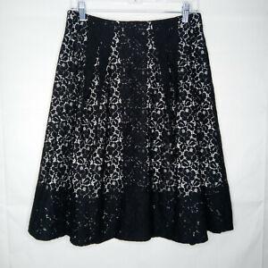 Talbots A-Line Skirt Women Size 4 Lace