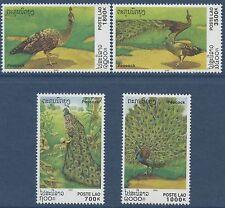 LAOS N°1391/1394** Oiseaux, Paons , 2000,  birds, peacocks Set MNH