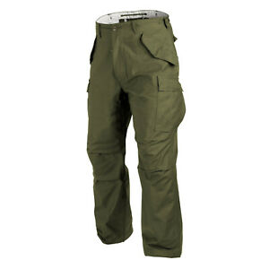 Military Pants US Army M65 Helikon Tex Trousers Genuine Cargo Olive Woodland YKK