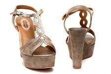New Elie Tahari Lynette Suede Platform Wedge Shoes women's sz US 9 EUR 40.5
