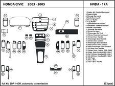 Honda Civic 2003-2005 2DR/4DR Automatic Real Carbon Fiber Dash Kit -Full Kit
