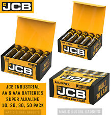 JCB INDUSTRIAL PRO AA & AAA ALKALINE BATTERIES LR03 LR6 EXPIRY 2024
