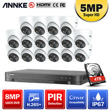 Annke 16Ch 4K 8Mp H.265+ Dvr 5Mp Hd Pir Dome Home Security Camera Cctv System 4T