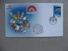 INDONESIA, event R-cover 2003, Asean Summit, stamp satelite globe