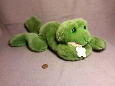 "16"" Russ FRIBBIT CROAKING FROG green plush stuffed animal with tag"