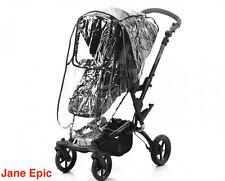 Jane Epic 4 Wheel Pram Black (Seat Liner, Storage Bag, Rain Cover)