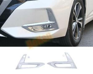 For Nissan Sentra 2020 -2021 ABS Chrome Front Fog Lights Lamp Cover Trim