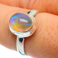 Ethiopian Opal 925 Sterling Silver Ring Size 8 Ana Co Jewelry R37747F