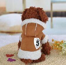 Hundemantel Wintermantel Hundebekleidung Felljacke Chihuahua S Yorky Luxus Braun