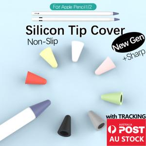 Soft Silicone Pen Tip Cap Cover iPad Apple Pencil 1 2 Draw No Noise 9 8 colour