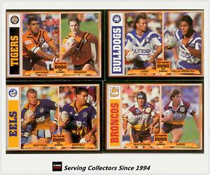 1994  Dynamic Rugby League Series 1 Dynamic Duos Card Full Set (16)- RARE