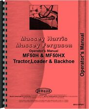 Massey Ferguson 50H 50HX Tractor Loader Backhoe Operators Manual (MH-O-MF50H)