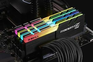 64GB G.Skill DDR4 TridentZ RGB 2400Mhz PC4-19200 CL15 1.2V Kit 4x16GB for AMD