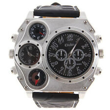 Men's Military Compass Thermometer Hiking Camping Outdoor Exercise Wrist Watch