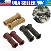 """Pair 7/8"""" 22mm Rubber Handlebar Hand Grip Bar End For Motorcycle Cafe Racer USA"""