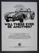 1997 AC 289 FIA Roadster vintage print Ad