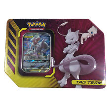 Pokemon Mewtwo /& Mew GX Tag Team Tin 4 BOOSTER PACKS BRAND NEW FACTORY SEALED!!