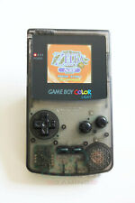 Game Boy Colour LCD Backlight Console - Adjustable Brightness, Clear Smoke Black