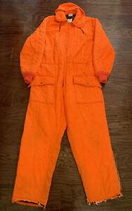 Vintage Walls Zero Zone Insulated Blaze Suit Mens Sz XL Orange Deer Buck Hunting