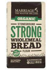 Strong Wholemeal Bread Flour, Organic 1kg (Marriages)