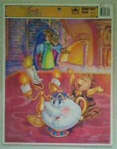 """Puzzle-Disney's Beauty & the Beast 20-Piece Frame-Tray Puzzle - 14"""" x 11 1/2""""."""