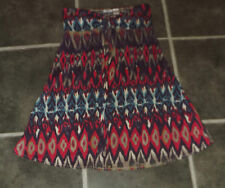 LADIES LA REDOUTE UK 12 - 14 40 - 44 AZTEC PATTERN STRAPLESS SMOCK COTTON DRESS