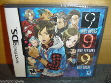 BRAND NEW SEALED 999: 9 Hours 9 Persons 9 Doors Nintendo DS Aksys Original Cover