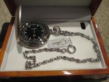 Colibri Silver Swiss Pocket Watch & Chain Gift Set