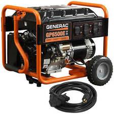 Generac 6515 GP6500E - 6500 Watt Electric Start Portable Generator w/ Conveni...
