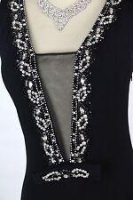 New Jovani 77652 Authentic Black Sleeveless Beaded Evening Cruise Women Dress 6