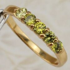 Size 6.5 Cute Hot NIce Peridot Green Gems Jewelry Yellow Gold Filled Ring R2537