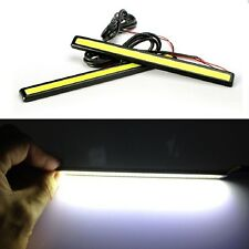 2X Waterproof 12V COB White LED Lights DRL Fog Driving Lamp 17CM Daytime 5~6000K